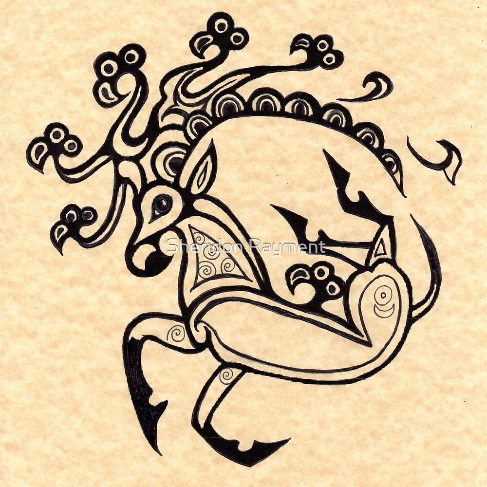 scythian deer tattoo 1 by sheridon rayment redbubble. Black Bedroom Furniture Sets. Home Design Ideas