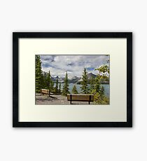 Rocky mountains Canada Framed Print