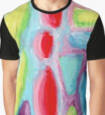 Psychedelic Fruitopia - Abstract Oil Pastel Painting No 1 Graphic T-Shirt