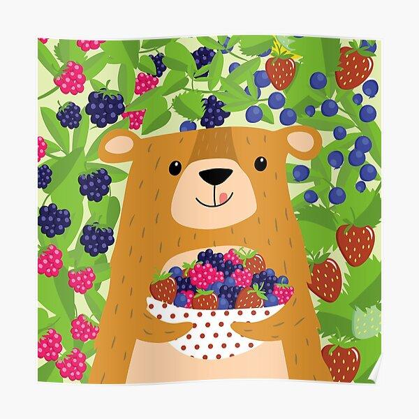 I love berries - Beeriger Bär Poster