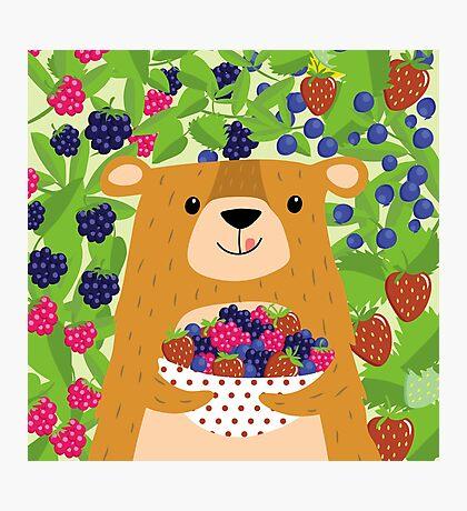 I love berries - Beeriger Bär Photographic Print