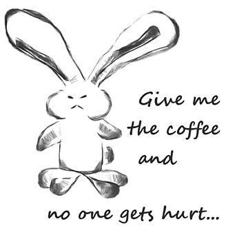Angry Bunny - Coffee by TheNyl