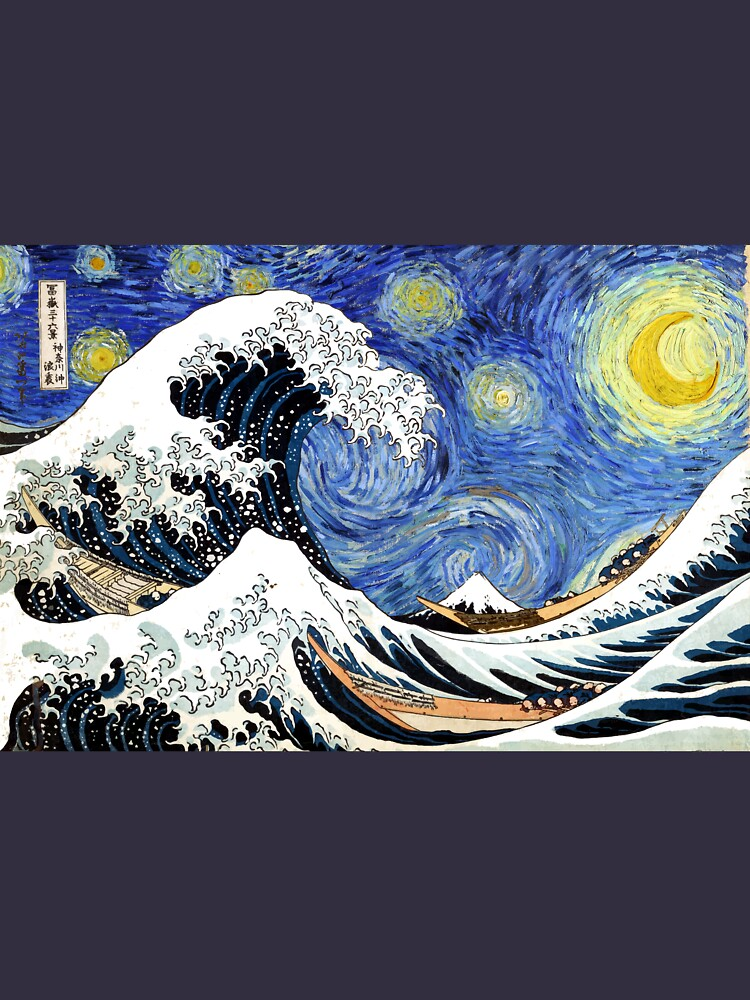 Iconic Starry Night Wave of Kanagawa by pdgraphics