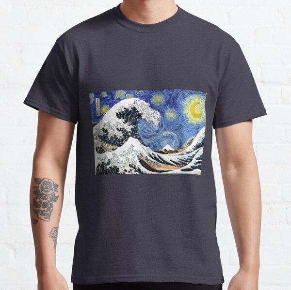 Iconic Starry Night Wave of Kanagawa Classic T-Shirt