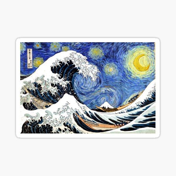 Iconic Starry Night Wave of Kanagawa Sticker