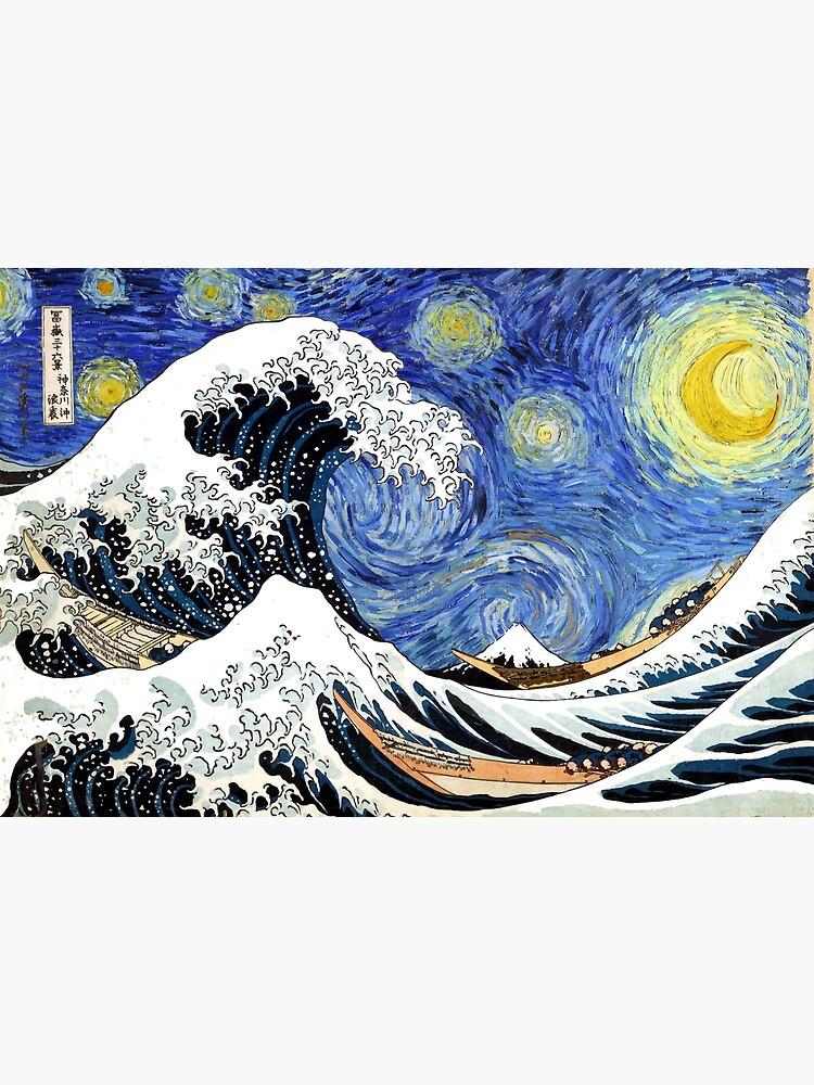 Iconic Starry Night Wave of Kanagawa by pdgraphics