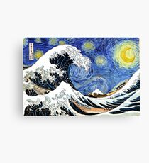 Iconic Starry Night Wave of Kanagawa Canvas Print