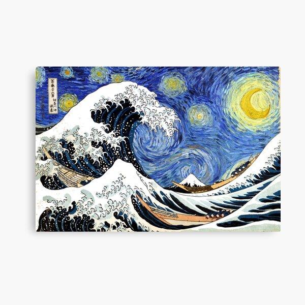 Iconic Starry Night Wave of Kanagawa Canvas Print