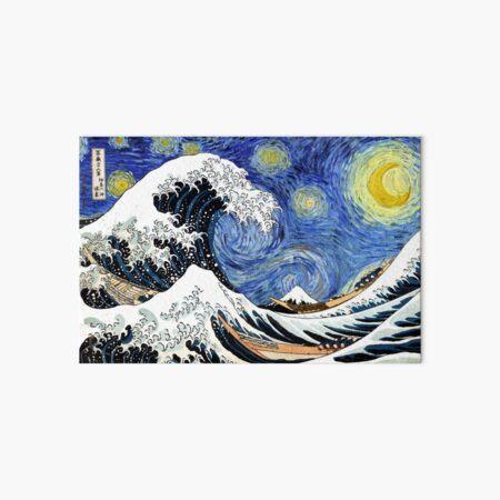 Iconic Starry Night Wave of Kanagawa Art Board Print