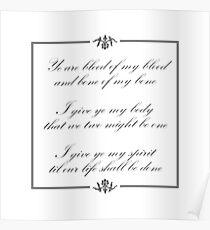 Scottish vows, wedding vows Poster