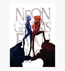 Evangelion - Asuka and Rei (movie ver.) Photographic Print