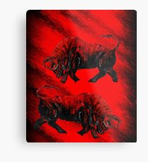 RED BULLS  Metal Print