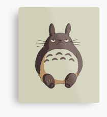 Grumpy Totoro Metal Print