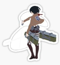 Mikasa Inspired Anime Shirt Sticker