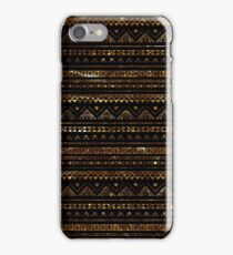 Aztec Black Tinsel Gold iPhone Case/Skin