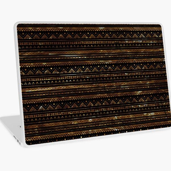 Aztec Black Tinsel Gold Laptop Skin