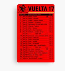 Vuelta a Espana 2017 Canvas Print