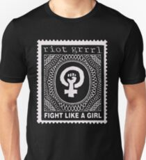 riot Grrrl t shirt fight like a girl print Unisex T-Shirt