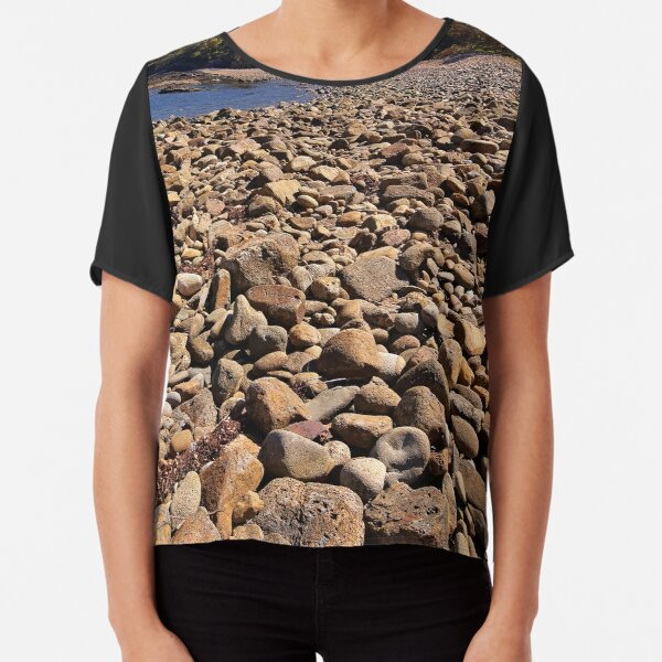 0102 Stony beach - Mimosa Rocks Chiffon Top