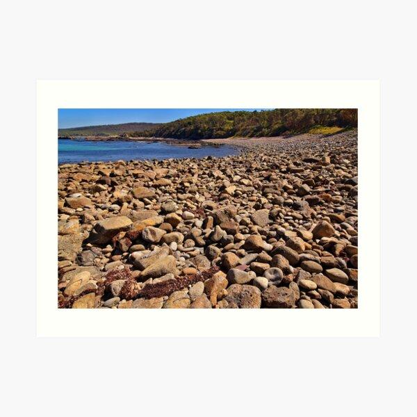 0102 Stony beach - Mimosa Rocks Art Print