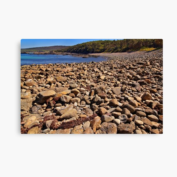 0102 Stony beach - Mimosa Rocks Canvas Print