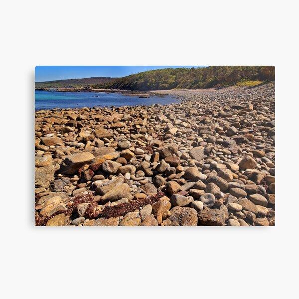 0102 Stony beach - Mimosa Rocks Metal Print