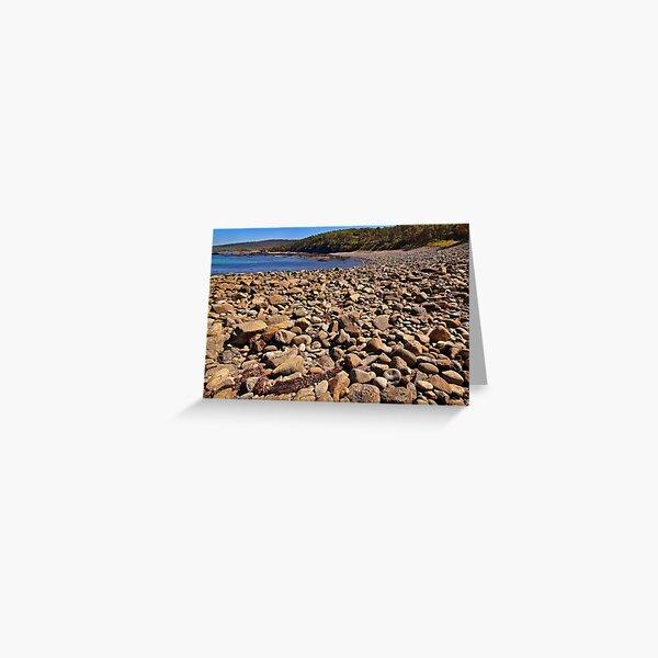 0102 Stony beach - Mimosa Rocks Greeting Card