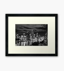 Brisbane Black and White Framed Print