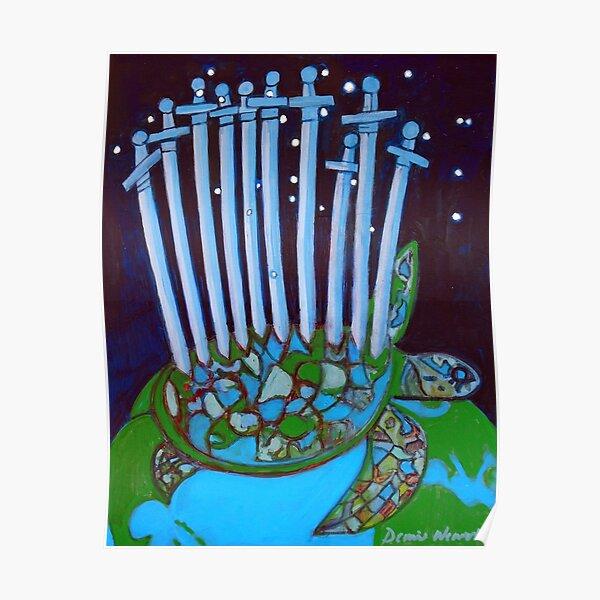 World Turtle: Ten of Swords Poster
