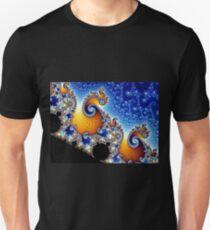 Mandelbrot Blue Double Spiral Fractal Unisex T-Shirt