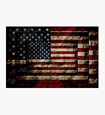 Old Glory - Stars and Stripes Photographic Print