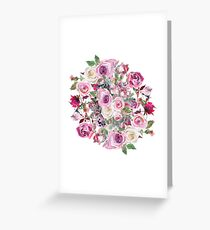 Bouquet of flower - wreath Greeting Card