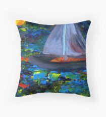 Voyage with a Sea Serpent Throw Pillow