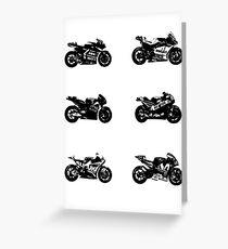 MotoGP 2017 Bikes Greeting Card