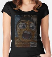 bee movie script Women's Fitted Scoop T-Shirt