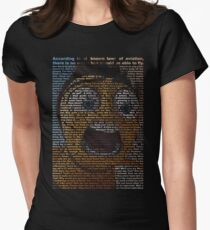 bee movie script Women's Fitted T-Shirt