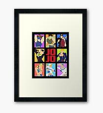 JoJo's Bizarre Adventure - Heroes Framed Print