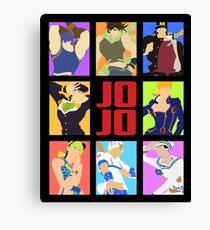 JoJo's Bizarre Adventure - Heroes Canvas Print