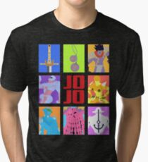 JoJo's Bizarre Adventure - Stands and Weapons Tri-blend T-Shirt