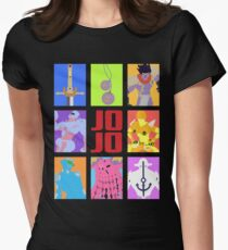JoJo's Bizarre Adventure - Stands and Weapons Women's Fitted T-Shirt