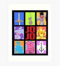 JoJo's Bizarre Adventure - Stands and Weapons Art Print