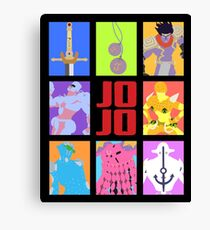 JoJo's Bizarre Adventure - Stands and Weapons Canvas Print