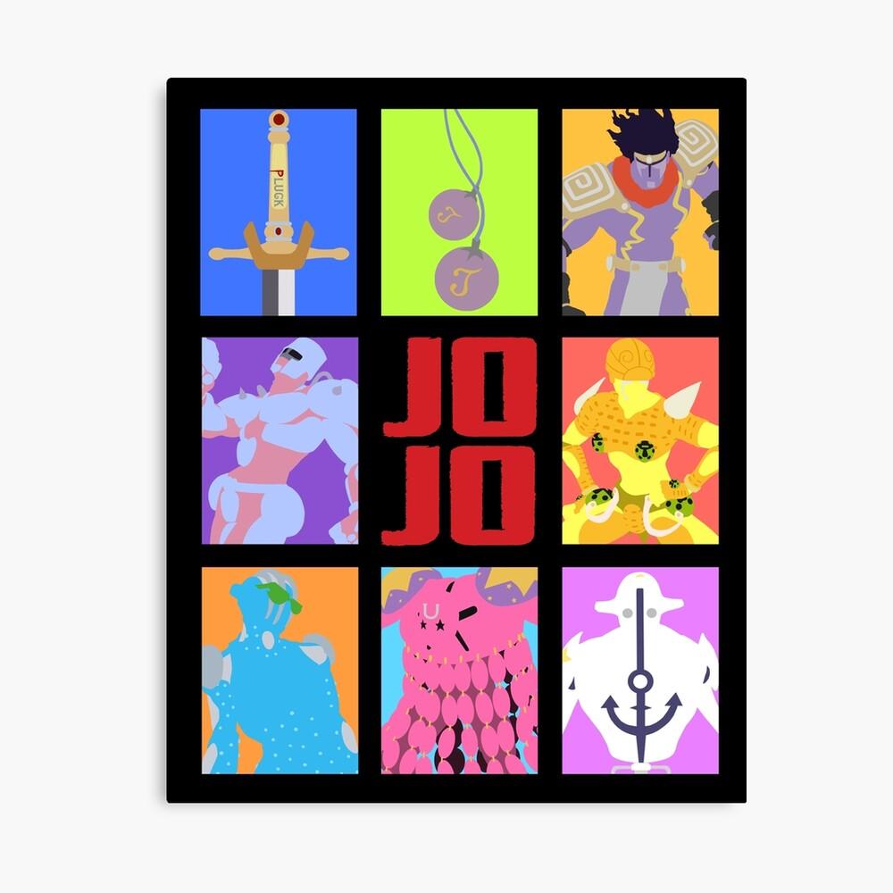 JoJos bizarres Abenteuer - Stände und Waffen Leinwanddruck