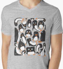 Penguin Party Men's V-Neck T-Shirt
