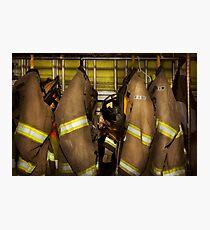 Firefighter - Bunker Gear Photographic Print