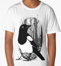 Magpie and Mushrooms Long T-Shirt