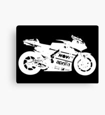 Aprilia RS GP 2017 MotoGP Bike (White) Canvas Print