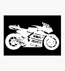 Aprilia RS GP 2017 MotoGP Bike (White) Photographic Print