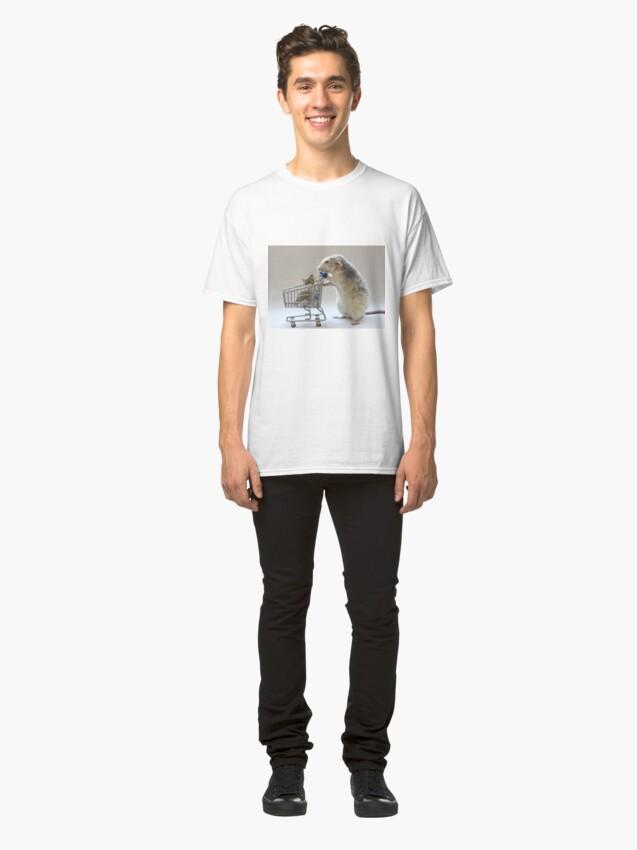 Alternate view of Walking the cat :) Classic T-Shirt