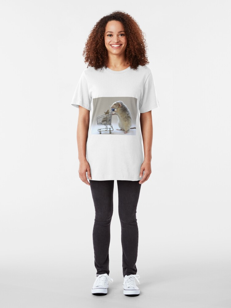 Alternate view of Walking the cat :) Slim Fit T-Shirt